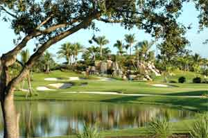 Delray Beach and Boca Raton has beautiful golf courses