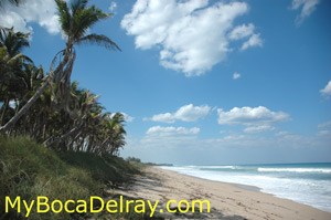 South Beach public beach in Boca Raton Photo